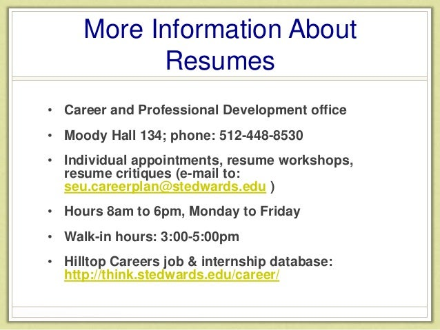 6 more information about resumes