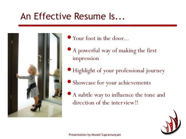 ... 3. Presentation By Monali Supramanyam An Effective Resume ...
