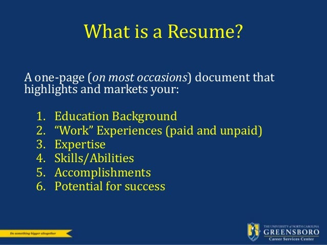 career services resumes