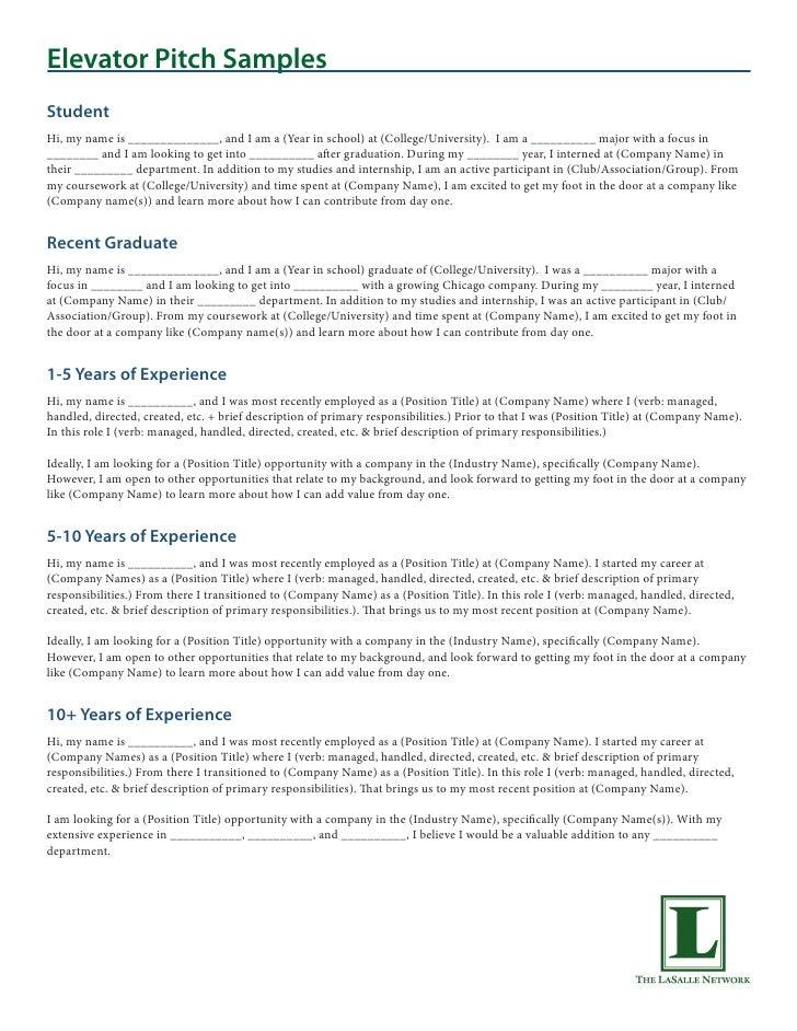 Elevator Pitch Resume Professional User Manual Ebooks