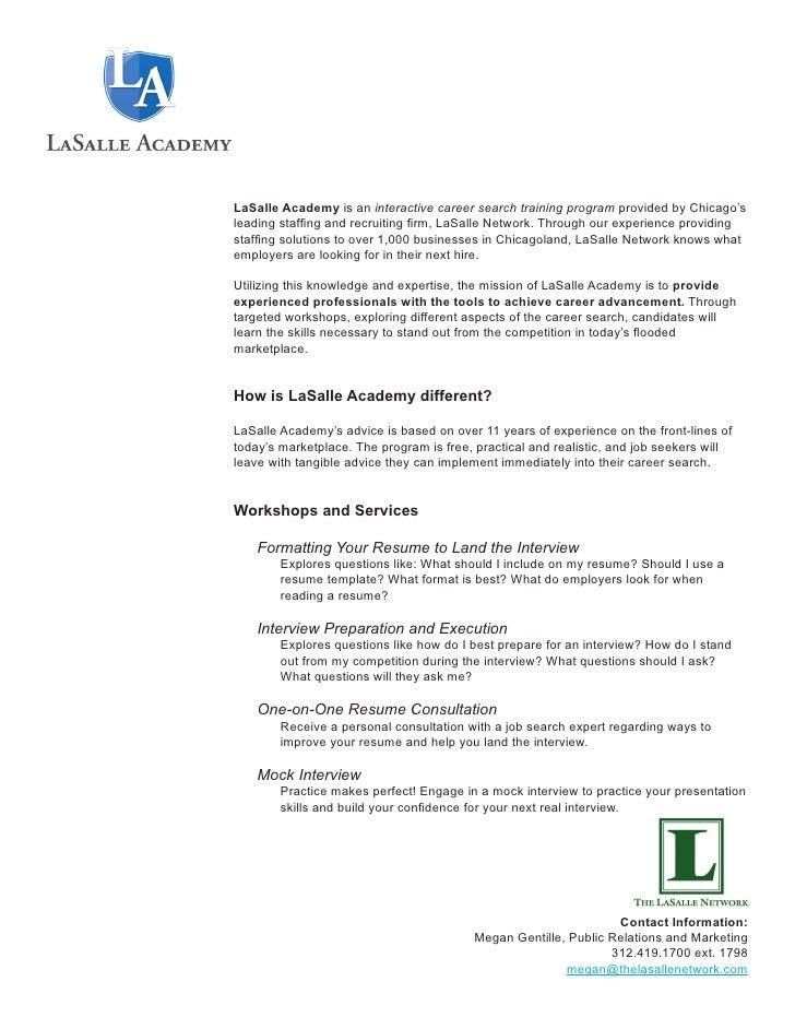 Resume Workshop Handout Packet
