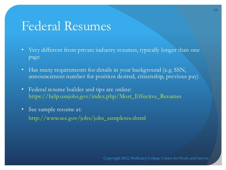 government jobs resume writing service