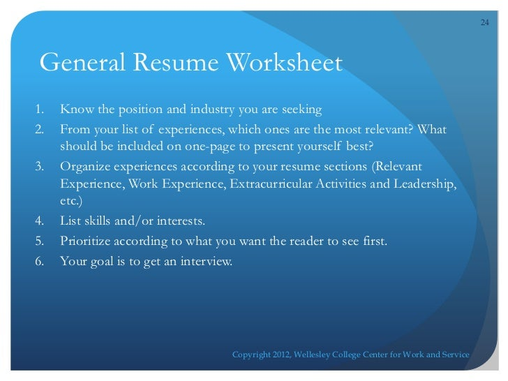 Cws wellesley resume