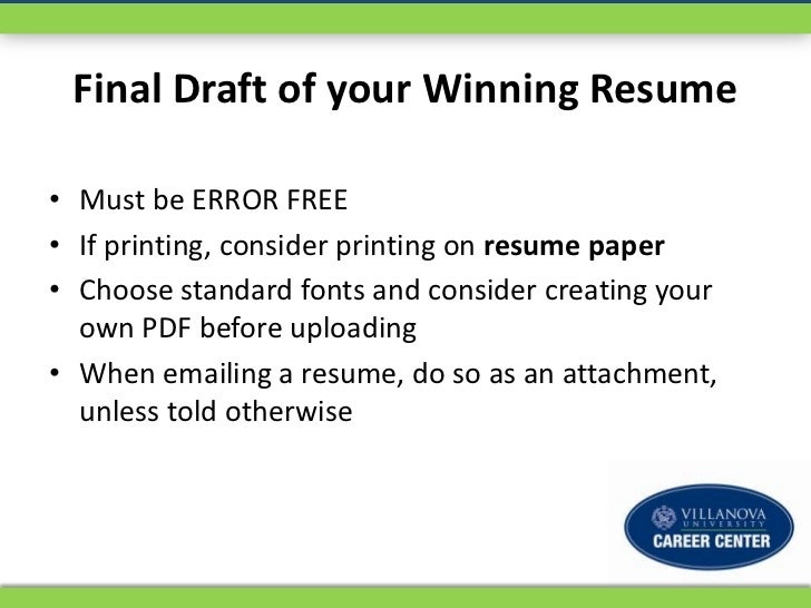 10 final draft of your winning resume