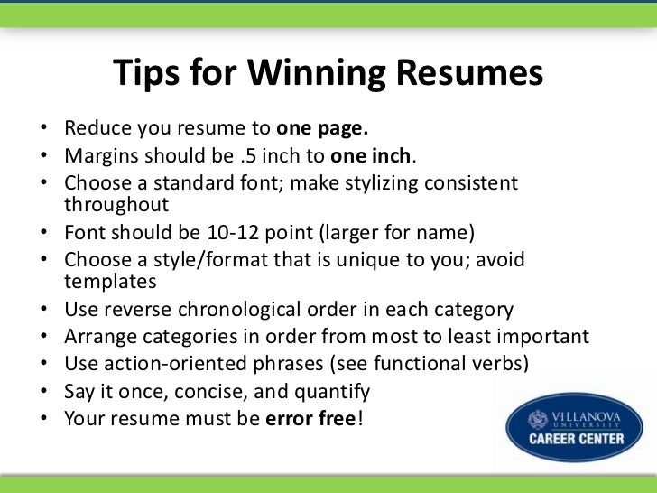 2 tips for winning resumes