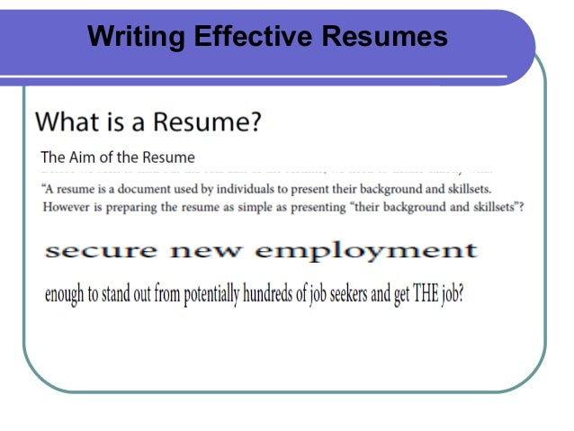 resume writing online