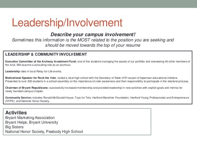 Community Involvement Resume Examples | Resume Examples 2017