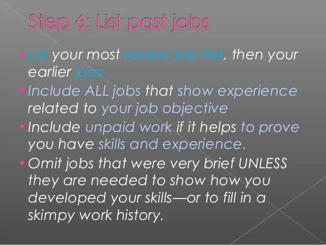 what skills have you developed from your job