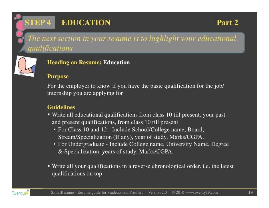 Academic Qualifications In Resume Forteforic
