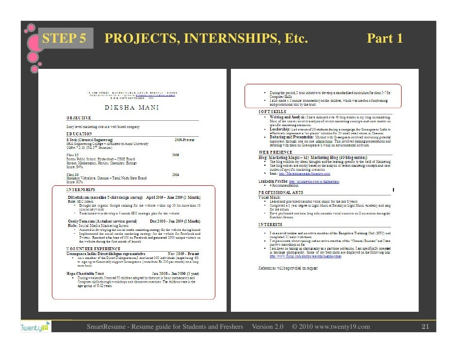how to write project details in resume for freshers professional