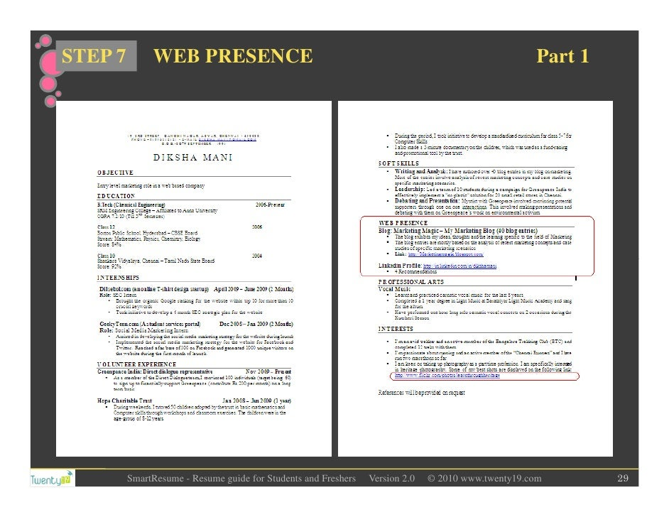 Resume Writing For Students And Freshers