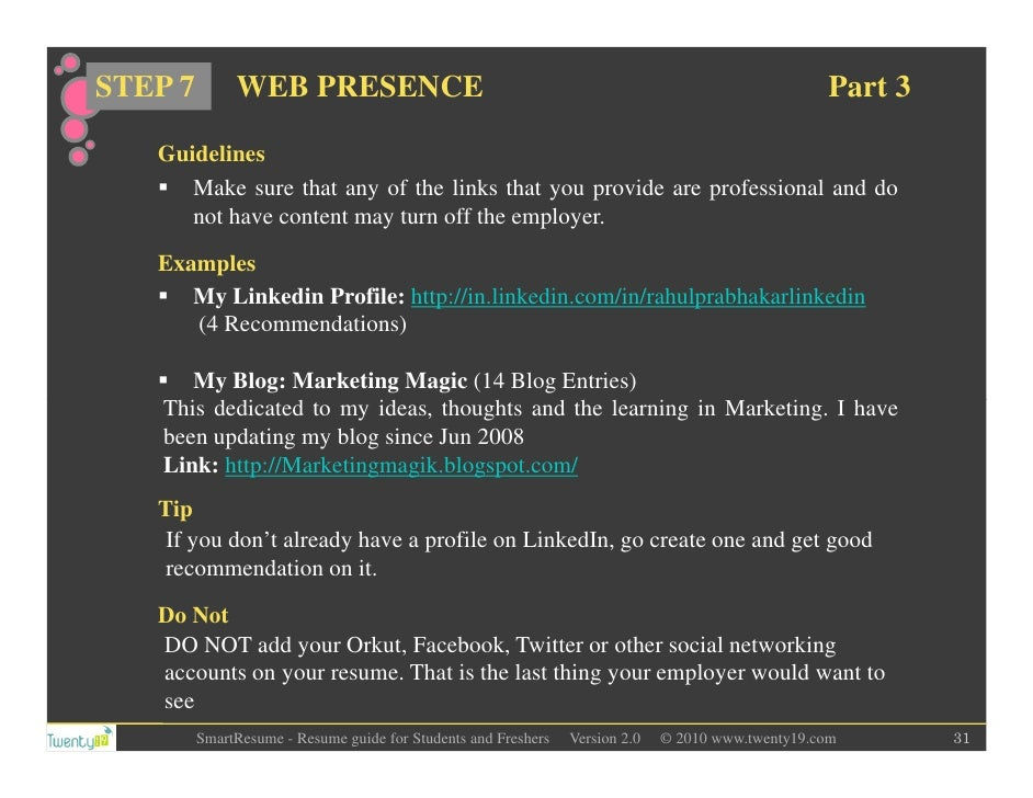 build a resume website