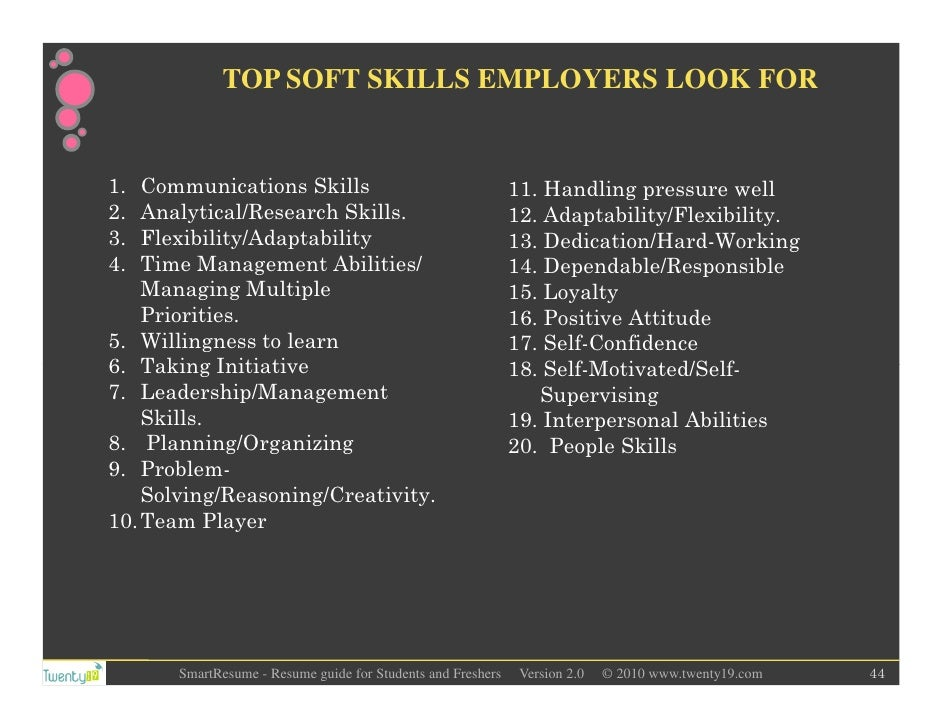 44 top soft skills employers look