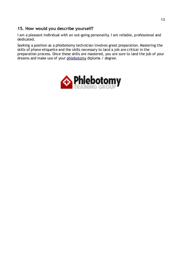SlideShare  Phlebotomy Skills For Resume