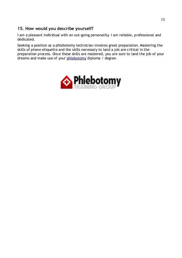 SlideShare  Phlebotomy Skills For Resume