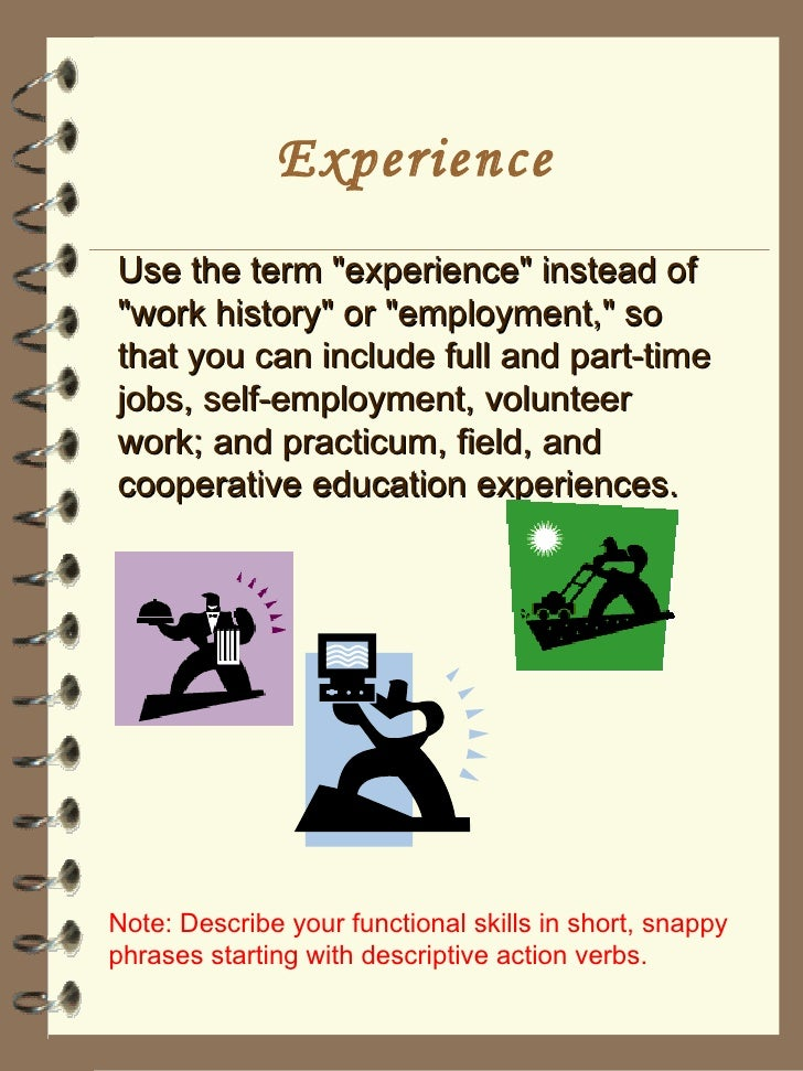 Experience Synonym For Resume Dalarcon