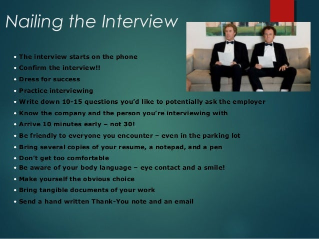 Resume writing and interviewing