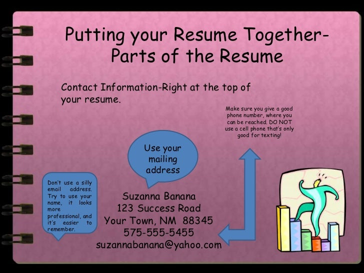 how to put together a resumes