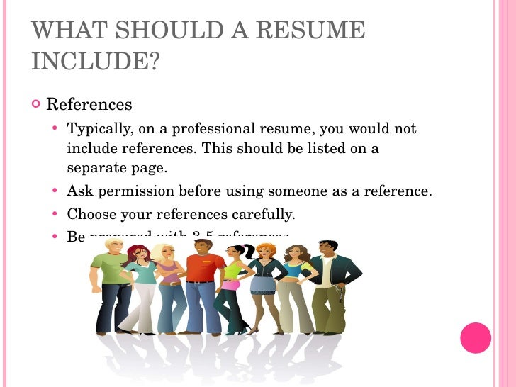 should i include references on my resume resume writing high school