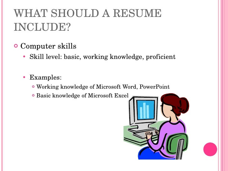 computer skills list for resume selo l ink co