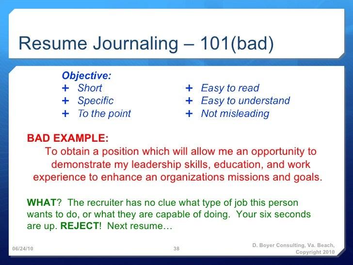 Resume Journaling .