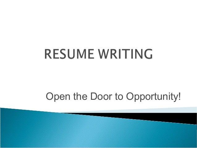 Open the Door to Opportunity!