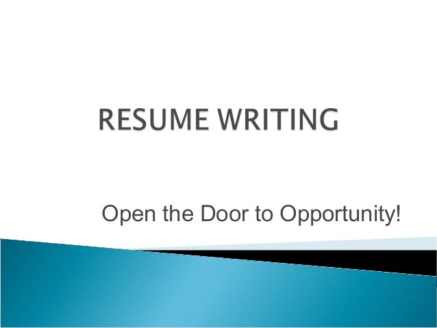 writing a resume powerpoint for students