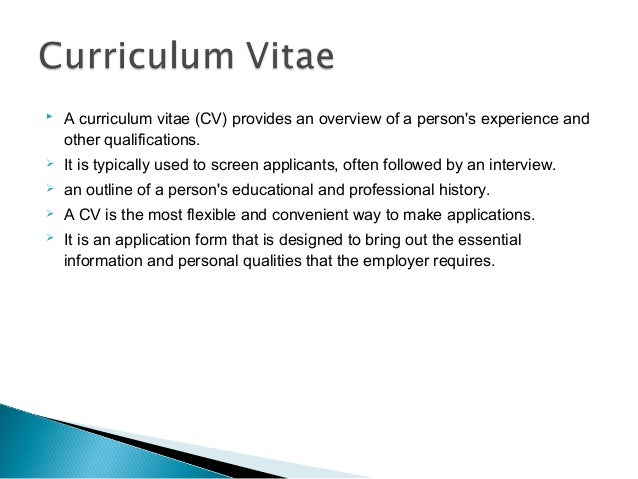 achievements work experience 10 a curriculum vitae - Cv And Resume Writing Ppt