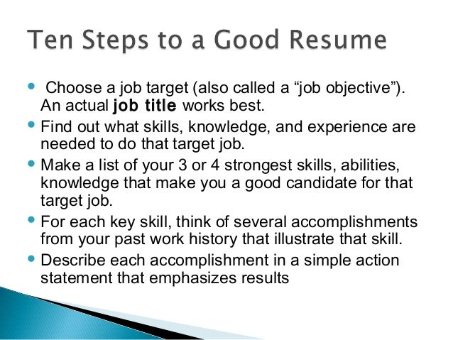18 choose a job - Job Title In Resume