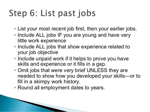 Resume Long Work History | BestSellerBookDB