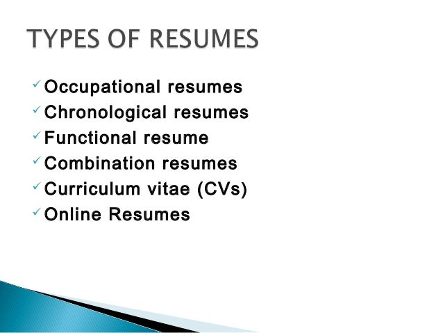 Resume writing for high school students ppt