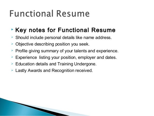 Resume writing ppt