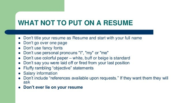 SlideShare  Resume Ppt