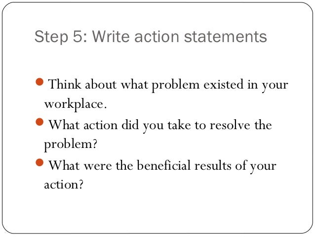 effective action statements
