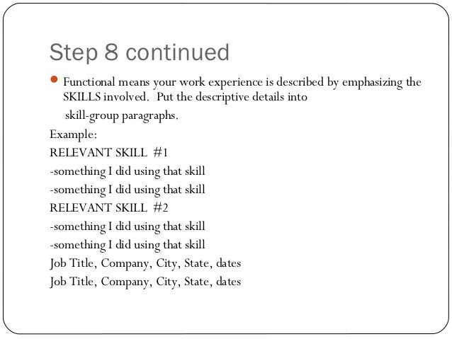 ... JOB TITLES; 20.  Skills For A Job Resume