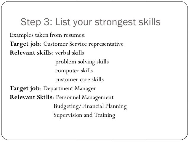 SlideShare  What To Put On Resume For Skills