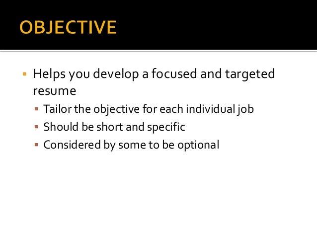 resume writing presentation
