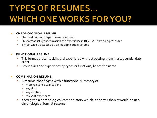 resume writing presentation