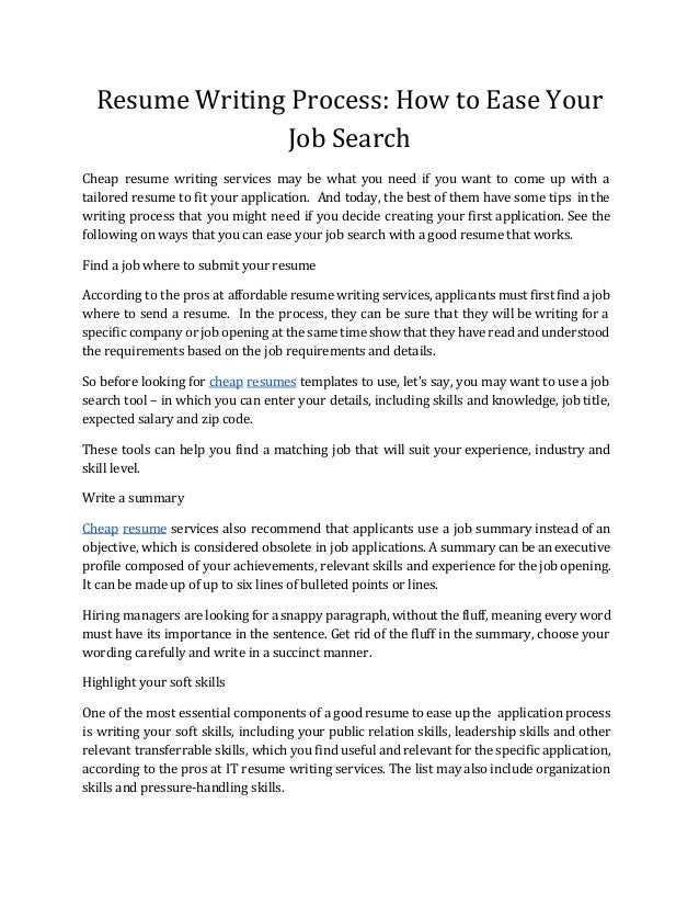 Find Good Resume Writer