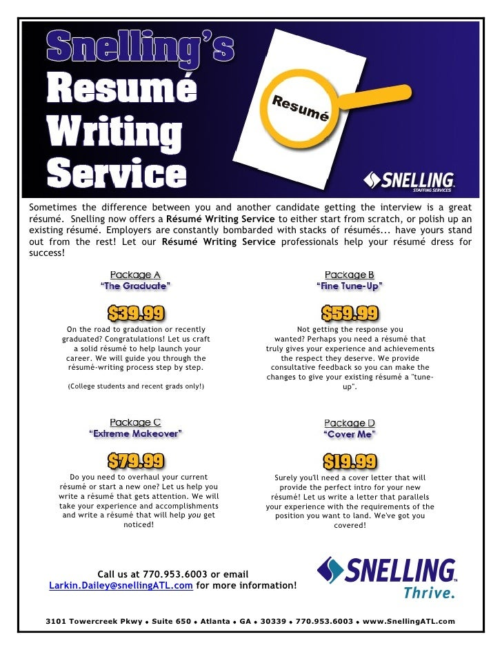 Resume writing flyer