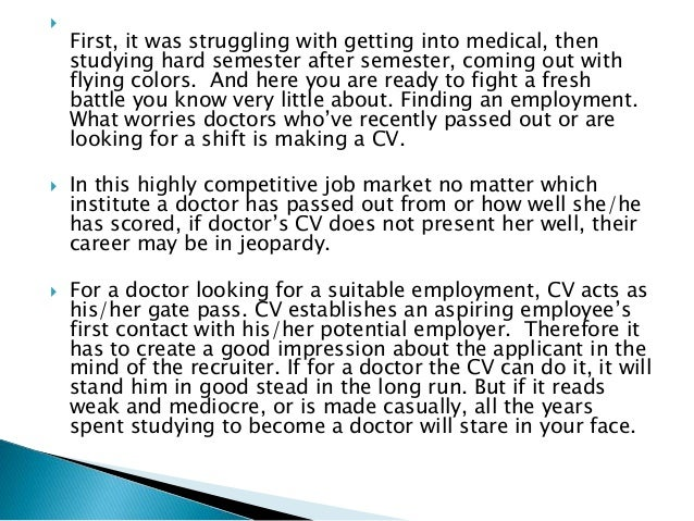 RESUME WRITING SERVICES FOR DOCTORS; 2.