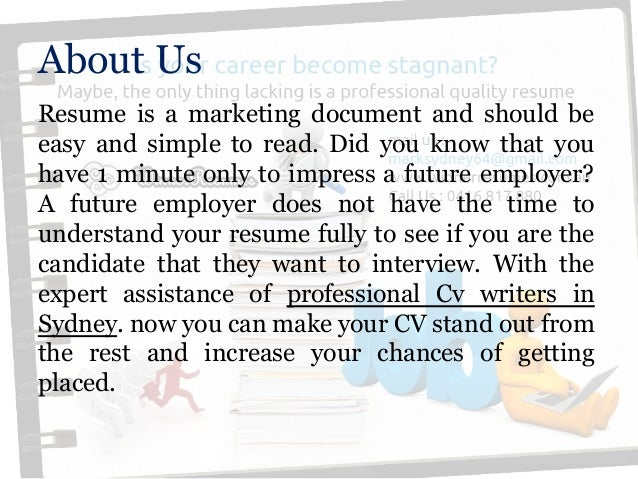 Professional resume writing services sydney