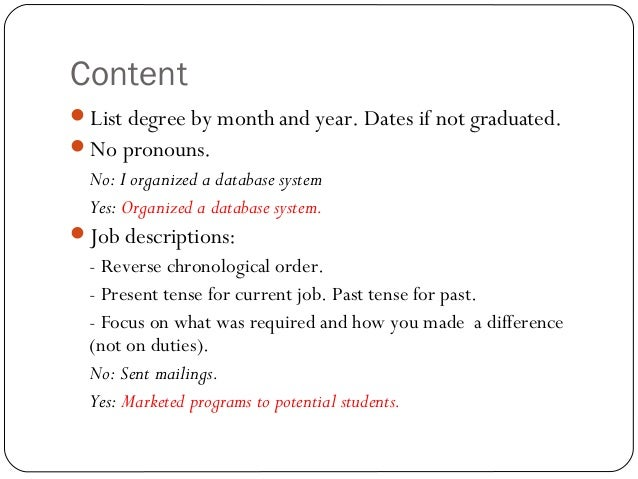 resume past or present tense - Akba.greenw.co