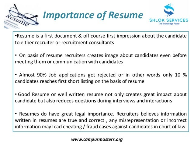 SlideShare  How To Have A Great Resume