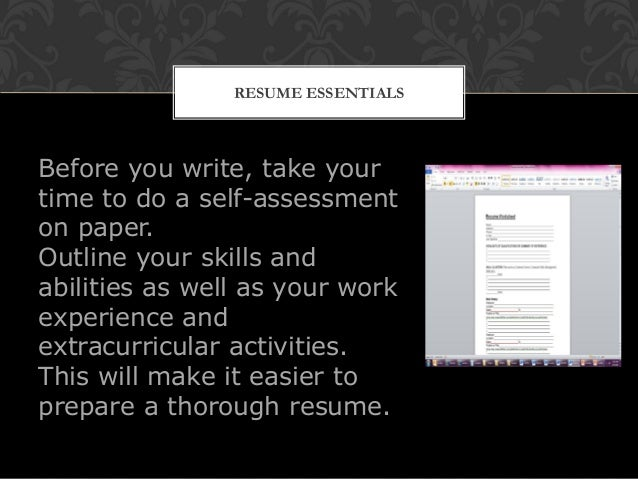 Resume writing workshop finalmilitary