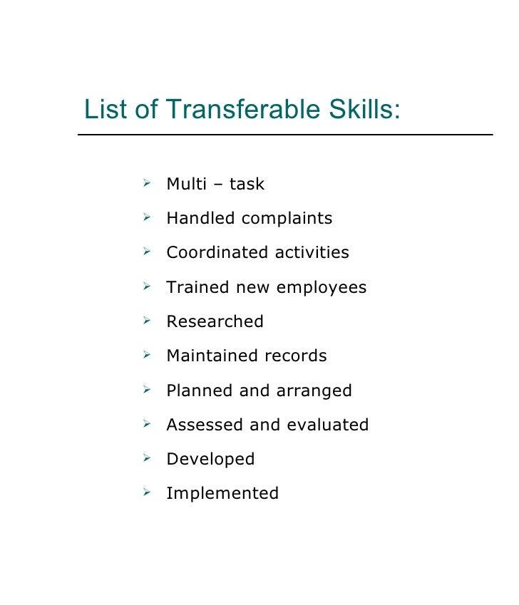 list of skills resumes
