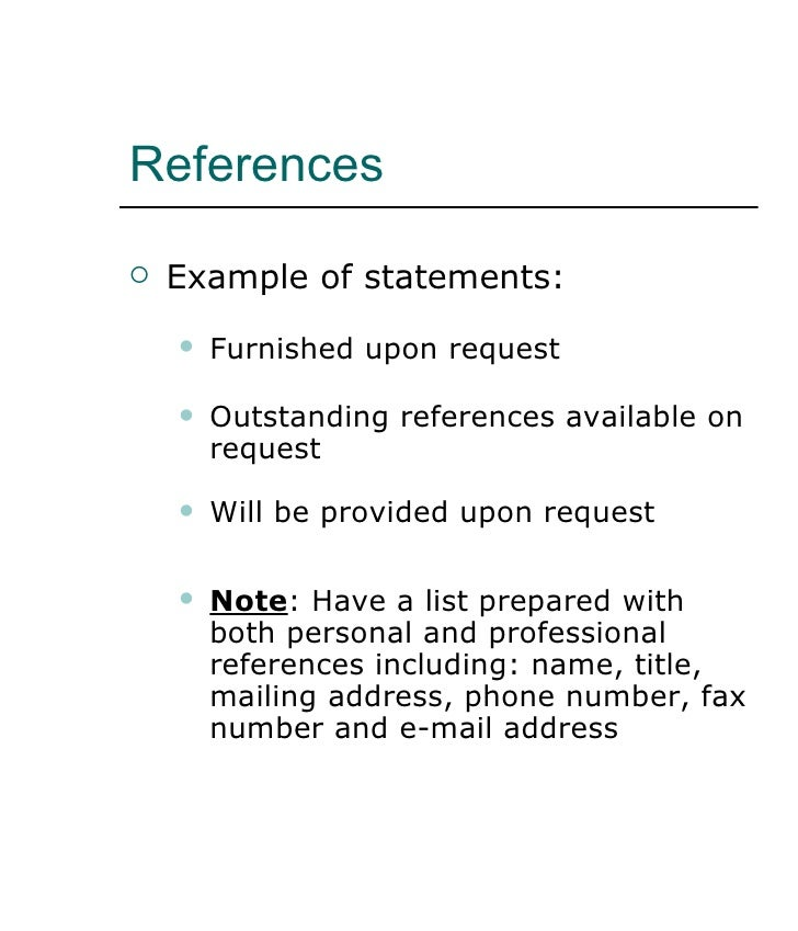 how to write a reference on a resume