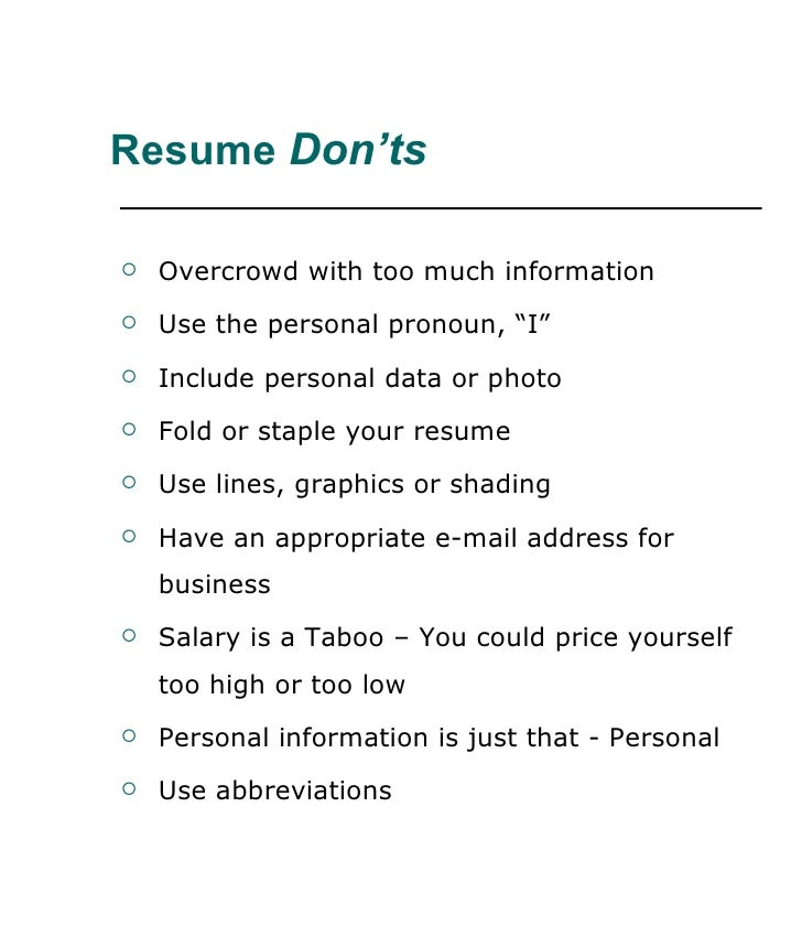 Resume writing workshop #2