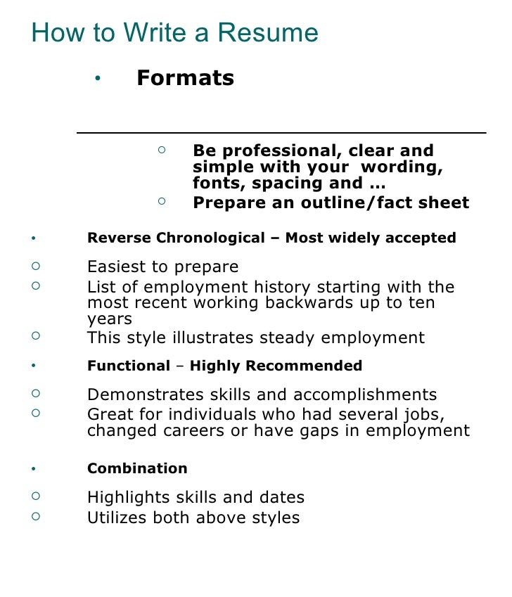 Recommended Programs To Write A Resume