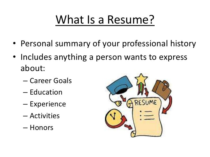 what is - What Is A Resume